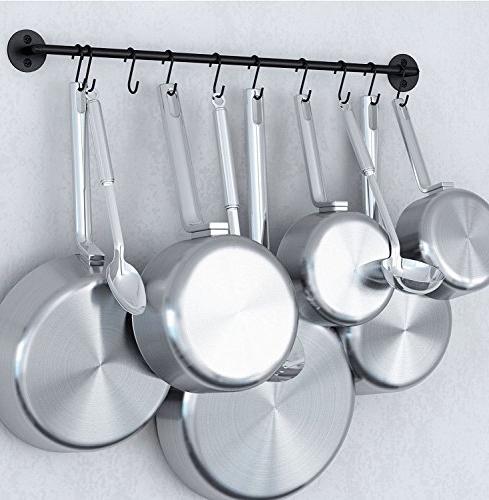 steel gourmet kitchen wall rail
