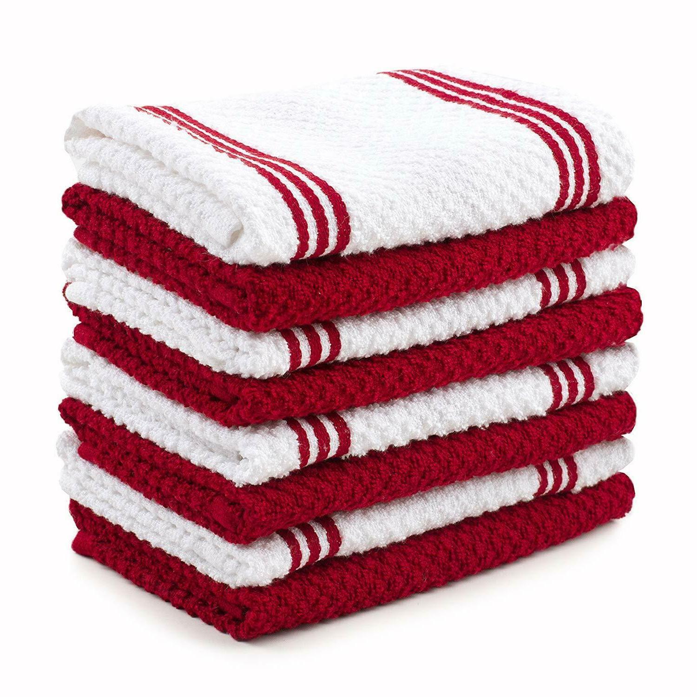 cotton terry kitchen dishcloth 8 pack 12