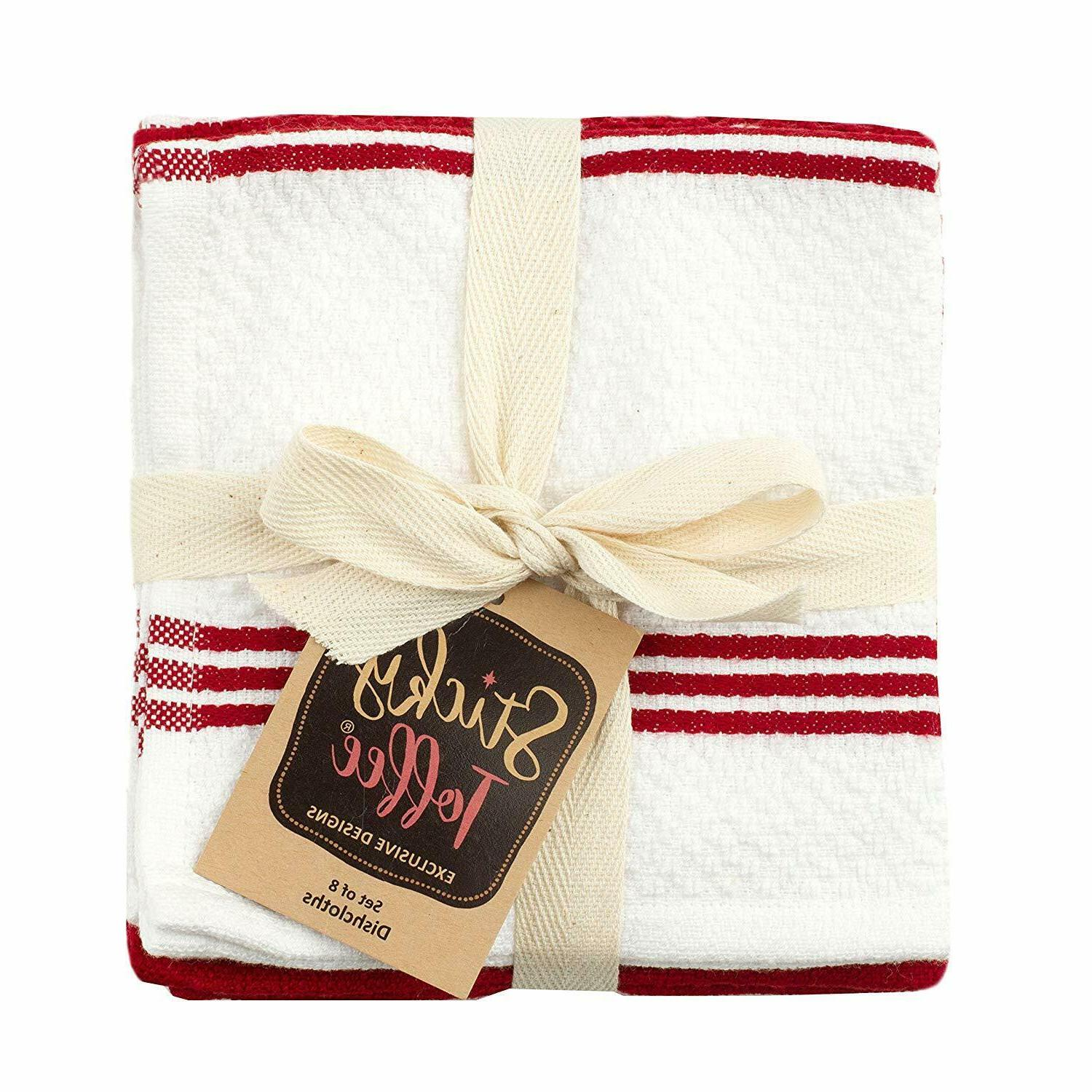 Sticky Toffee Terry Kitchen Dishcloth, 8 Pack, 12 in x in,