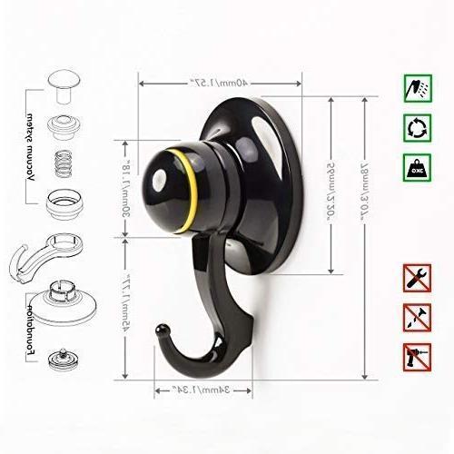 Qmagic Strong Vacuum Cup Hooks - Shower Hooks Hanger Towel, Bath Suitable for - Cup 56mm