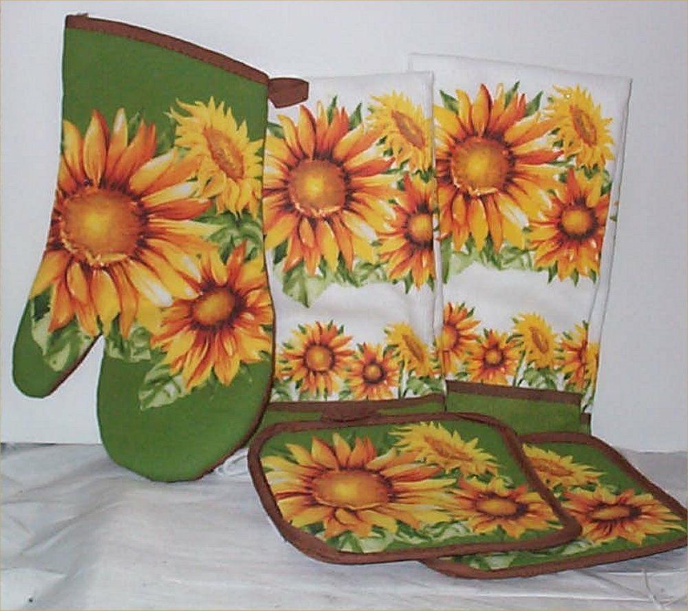 Sunflower Kitchen Mitt Hot Kitchen
