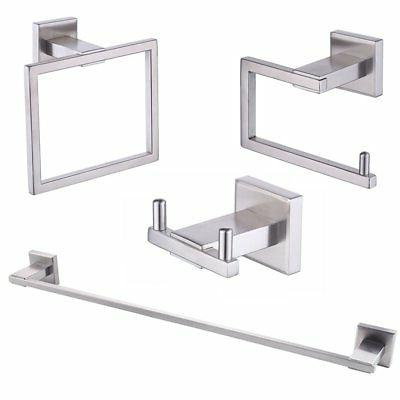 sus 304 stainless steel 4 piece bathroom