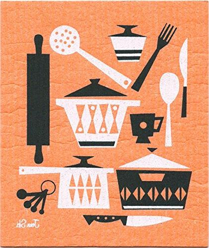 Swedish Retro Kitchen Utensil Set Colors