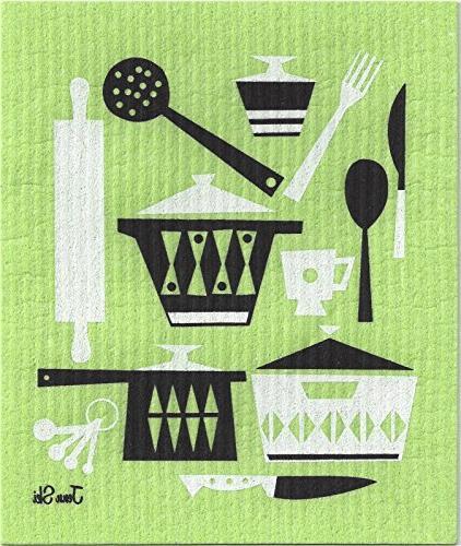 Swedish Dishcloths, Kitchen Set of Colors