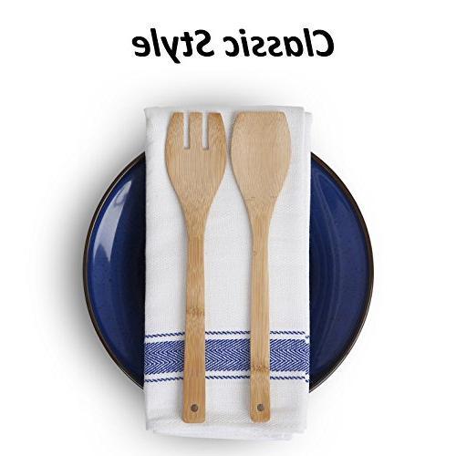 Vintage SMARTZ; percent Cotton with Hanging Pack White Stripes Large 70x50 Lasting Kitchen Glasses Leaving Lint
