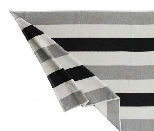 Cotton Craft Terry Beach Towel Pack- Black
