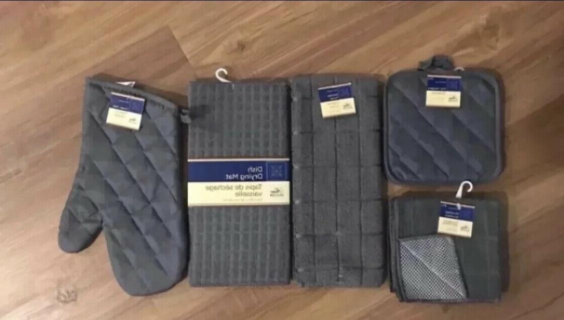 towel set with 2 quilted pot holders