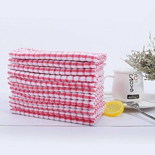 Kitchen Pack Bulk DishCloths Scrubbing Rags,12x12