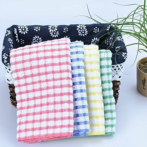Kitchen Cloths 12 Pack Bulk DishCloths Scrubbing Wash