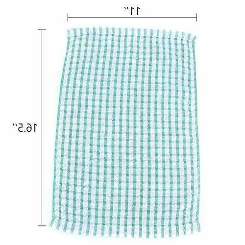 Kitchen Cloths 12 Pack Cotton Scrubbing Wash Rags,12x12