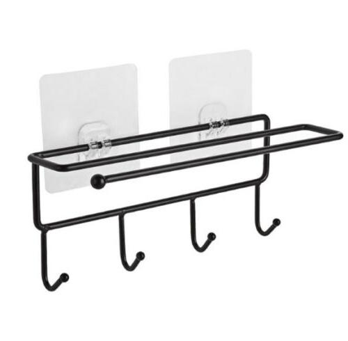 Towels Wall Mounted Rack Kitchen Organizer Bathroom
