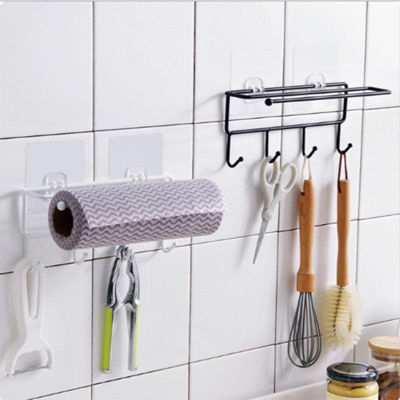towels hooks wall shelf mounted rail rack