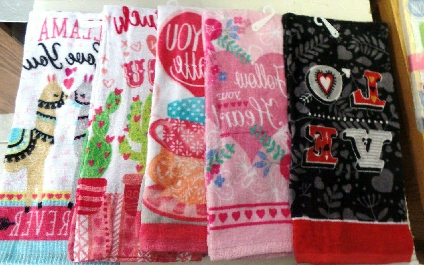 towels kitchen hand love you towels