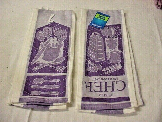 KITCHEN TOWELS, PURPLE, Charles 100%