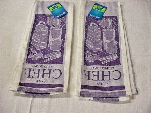 towels purple charles craft professional chef nwt