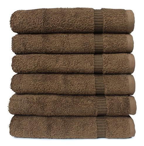 SALBAKOS Luxury Hotel & Spa Cotton Eco-Friendly Hand Towel Set 16 30 Chocolate