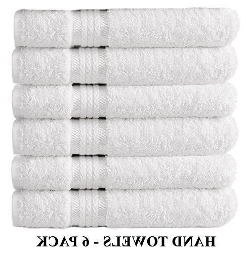 ultra soft hand towels white