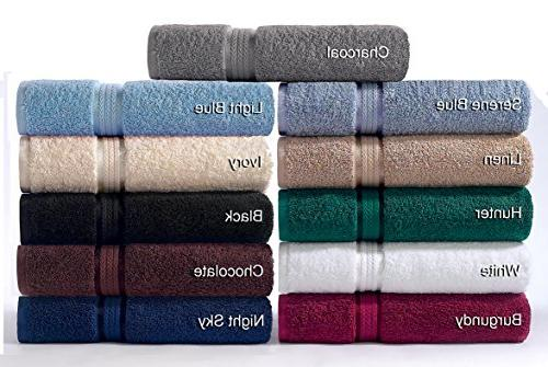 Cotton Craft 6 Towel Burgundy, Cotton, Absorbent, 2 Towels 30x54, 2 Towels Cloths