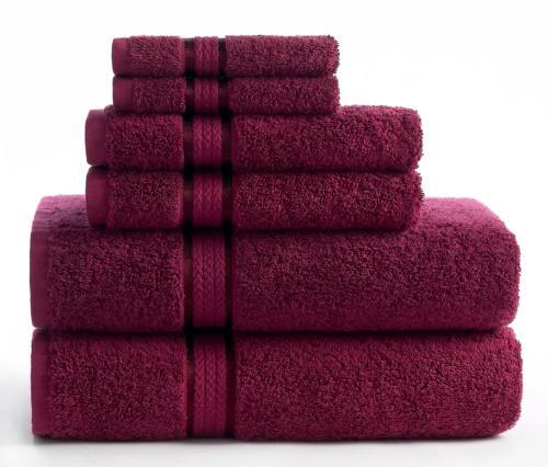 ultra soft towel set burgundy