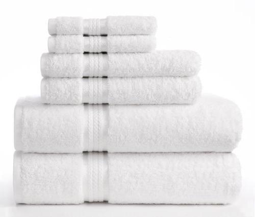 ultra soft towel set white