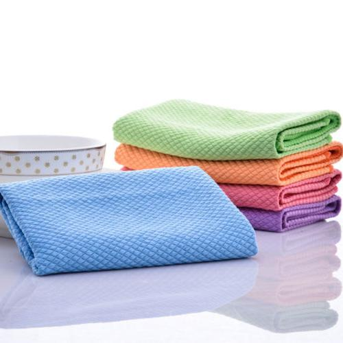 1/5 Pcs Towels Kitchen Quick Dry Towel Cotton Dish Cloth