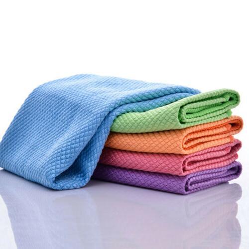 1/5 Pcs Square Tea Towels Kitchen Quick Dry Hair Towel Cotton Dish