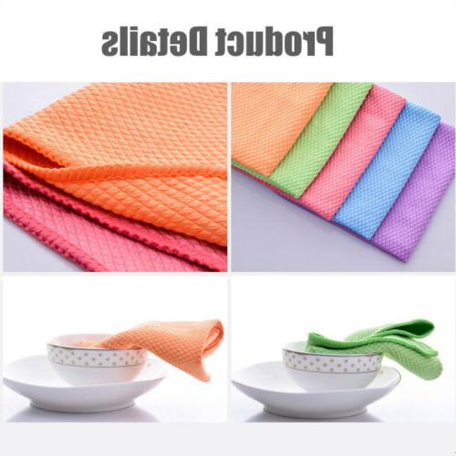 1/5 Pcs Tea Towels Kitchen Dry Dish