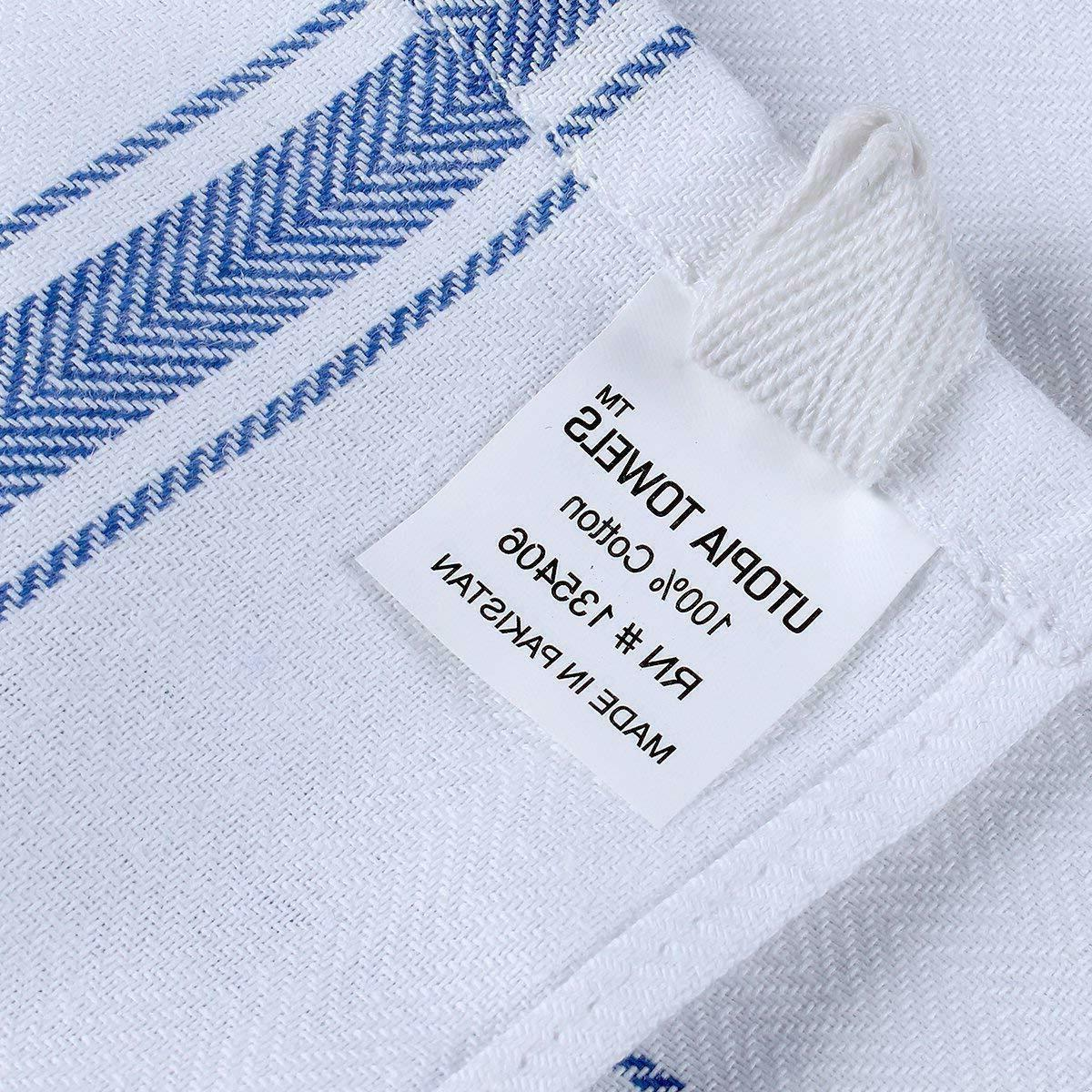 Dish 12 White 25 Kitchen Towels Lot Utopia Towels