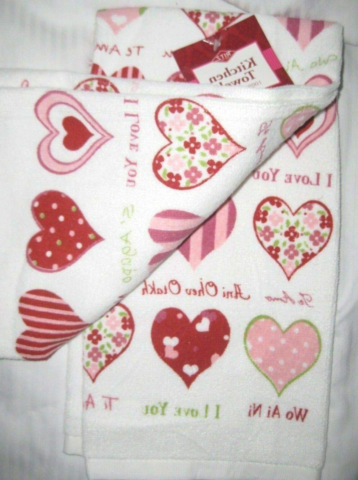 Ritz Valentine's Day I LOVE YOU Ti AMO WO AI AI Hearts Kitch