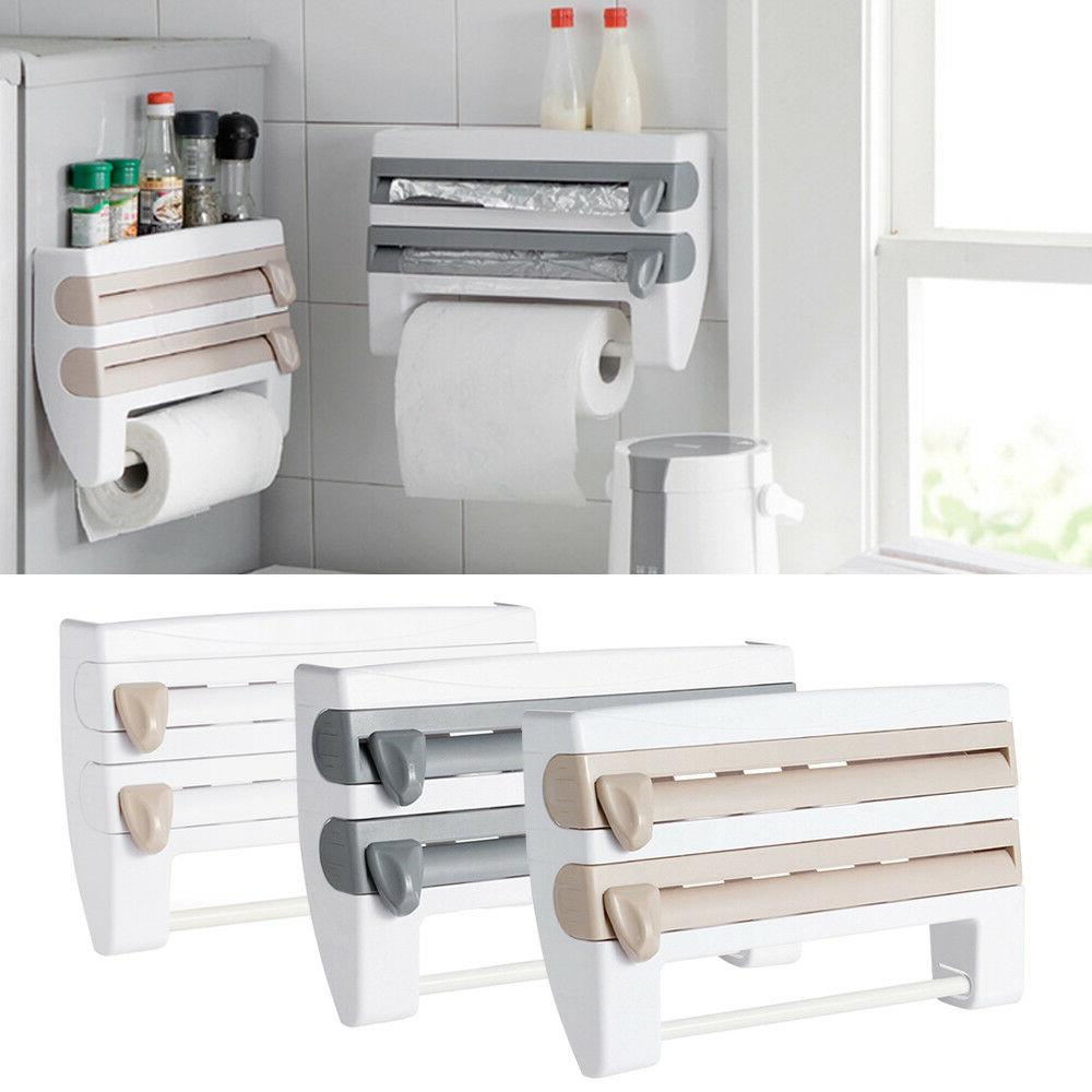 wall mount kitchen paper towel holder cling