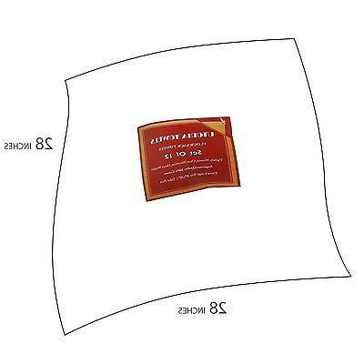 "White Cotton Dish Towels Utopia 12 28""x28"" Sack Set"