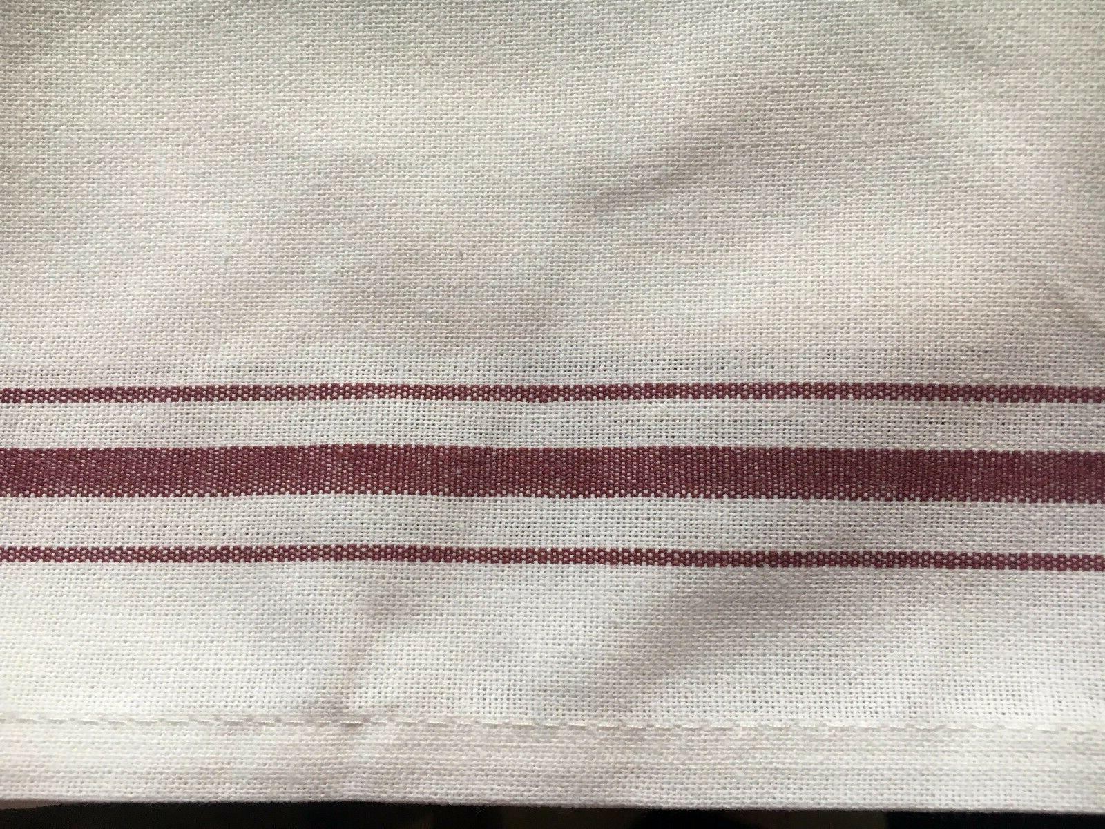 "White KITCHEN Stripe 17"" towel"
