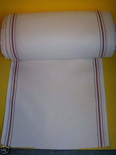 white kitchen toweling red stripe 17 wide