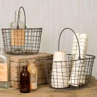 Wire Nesting Baskets with Handles