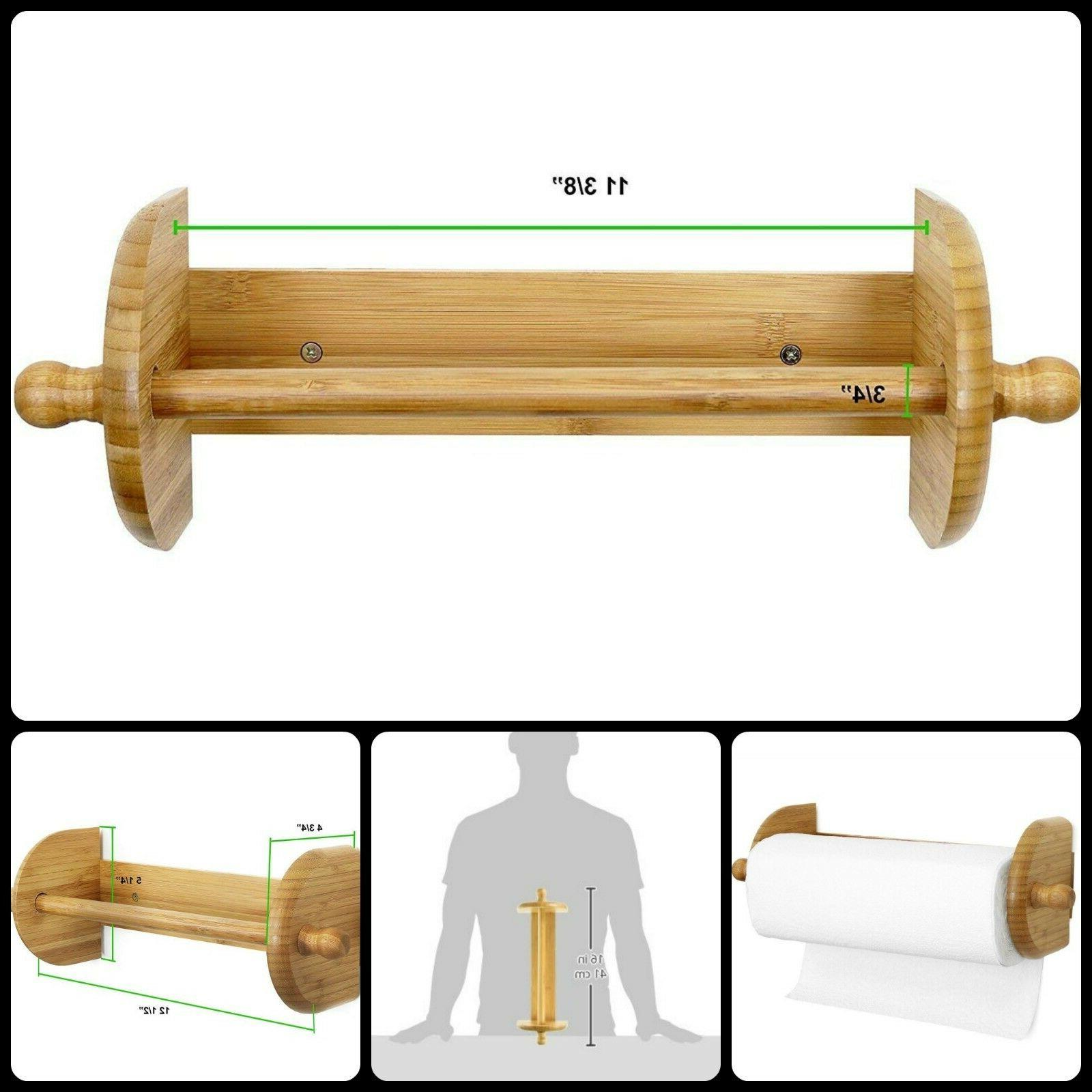 wood paper towel roll holder
