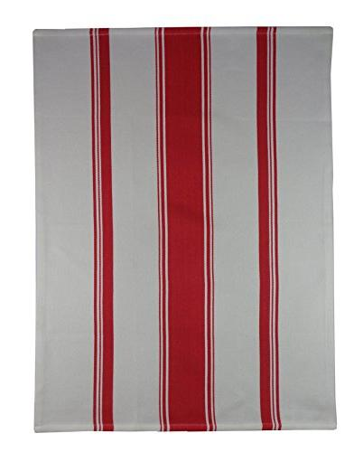 Cotton Craft - 4 Pack Resistant Finish Cotton Twill Stripe - Kitchen Towels - - Easy Care Machine Wash