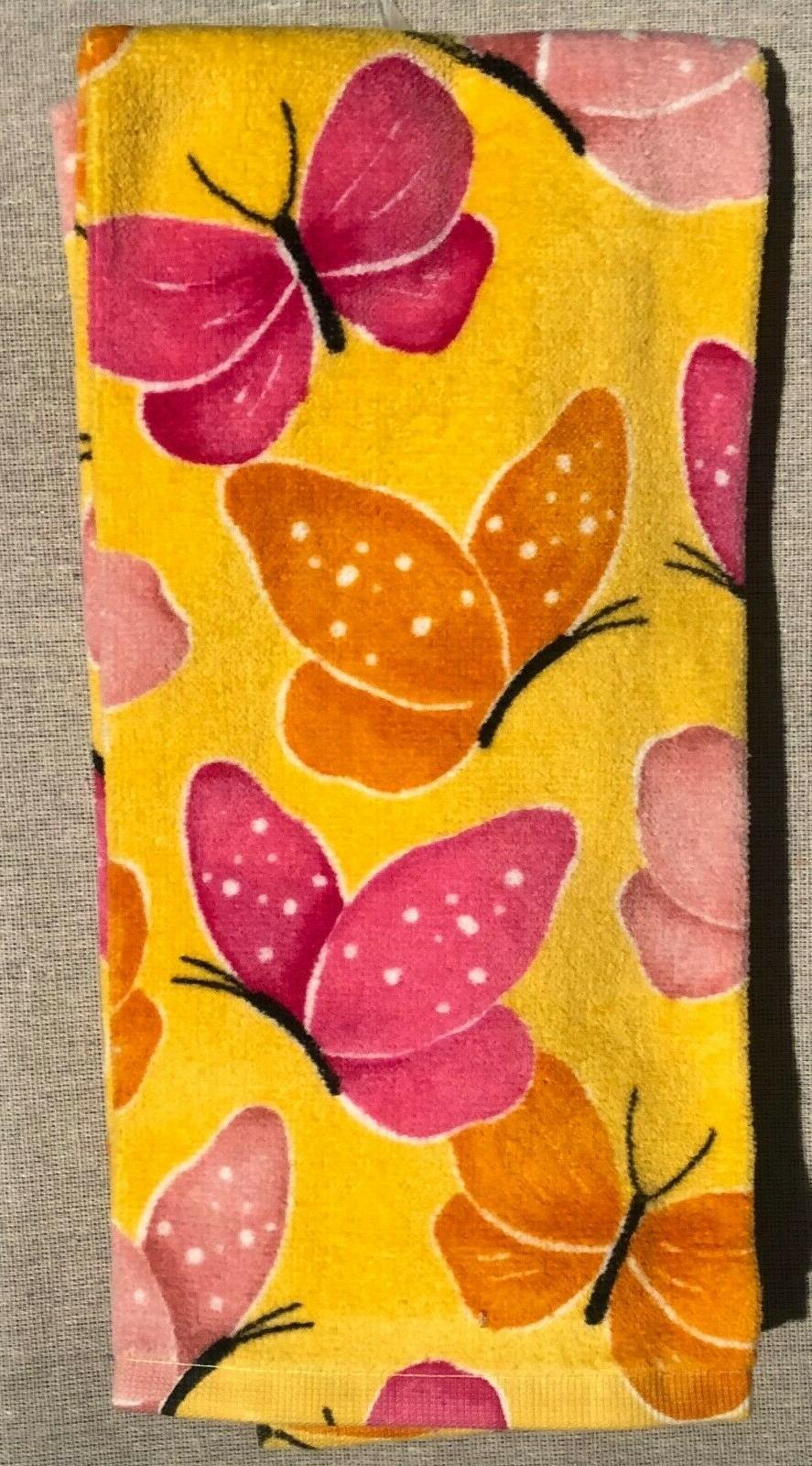 Ritz Orange Butterfly Theme Set of 2 Kitchen Towels