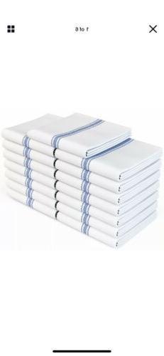 Zeppoli Classic White Kitchen Towels 100% Natural Cotton Dis
