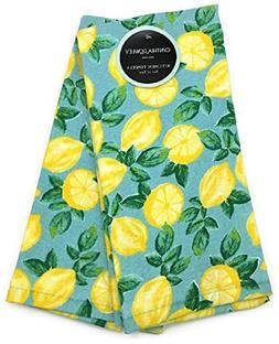 Cynthia Rowley Lemons and Lemons Kitchen Towel Set