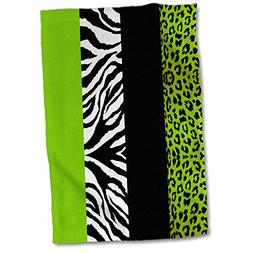 3dRose Lime Green Black and White Animal Print-Leopard and Z