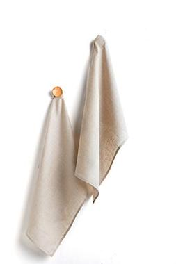 Solino Home Linen Kitchen Towel - 100% Pure Linen 17 x 26 In