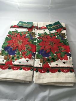 Lot 2 NWT VTG  Kitchen Towels Cotton  Royal Terry  Santa's