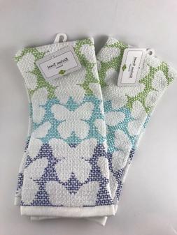 Lot of 2 RITZ Cotton/polyester Kitchen towels Butterflies gr