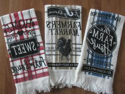 Lot of 3~ Kitchen Towels -Rustic Cabin Country Primitive Roo