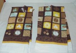 "~ Kitchen Dish  Coffee Design Towel Towels  15"" x 25"" New"