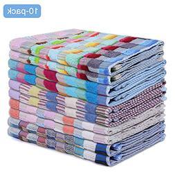Luxury Best Bath Hand Towels 10 Pack Soft Cotton Absorbent K