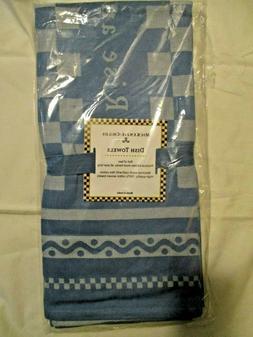 Mackenzie Childs - RETIRED-  Royal Check Kitchen Towels - Se