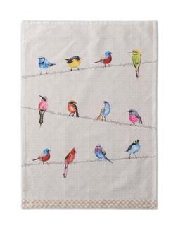 Maison d' Hermine Birdies On Wire 100% Cotton Set of 2 Kitch