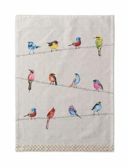 Maison D Hermine Birdies On Wire 100% Cotton Set Of 2 Kitche