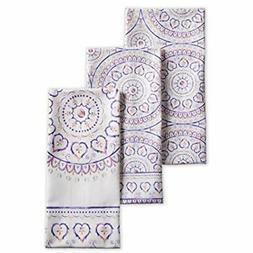 Maison d' Hermine Mandala 100% Cotton Set of 3 Kitchen Towel